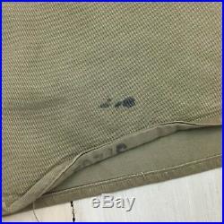 MILITARY SHIRT Vtg Korea Khaki US Army WWII Patches Pins Uniform Workwear, 15x32