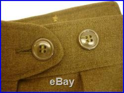 Mens 36R WWII US ARMY Green Original USA FIELD WOOL Uniform JACKET IKE + Patches