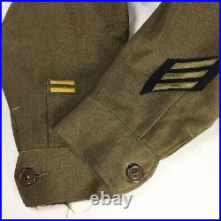 Mens 38S Post WWII US ARMY Original WOOL Uniform JACKET IKE + Patches