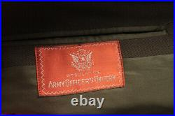 Mens WWII US Army Officers Uniform Jacket 44 Pants 33x32 Kansas State ROTC Patch