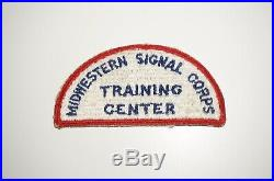 Midwestern Signal Corps School Training Center RARE WWII Patch US Army P1192