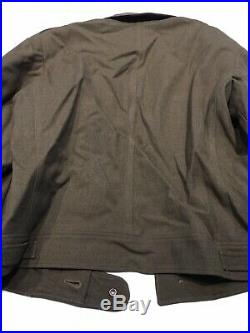Named Officer 1944 WWII US Army Ike Eisenhower Field O. D. Wool Jacket 38 Patches