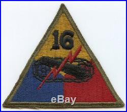 Nice Used WWII US Army 16th Armored Division (Armadillo) Shoulder Patch