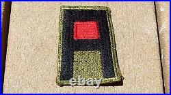 ORIGINAL US ARMY WW2 PATCH SSI 1ST Artillery Insignia Cut Edge Green Back