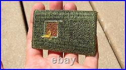 ORIGINAL US ARMY WW2 PATCH SSI 1ST Signal Corps Insignia Cut Edge Green Back