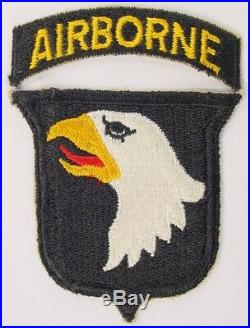 ORIG WW2 US Army 101st Airborne Infantry Division w AB Tab Paratrooper Patch SSI