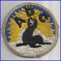 Off Uniform Silver Border WW 2 US Army Alaska Defense Command Patch Inv# F411