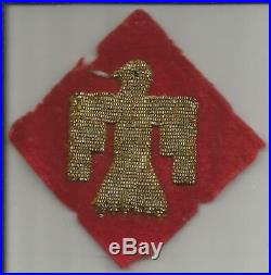 Off Uniform WW 2 US Army 45th Infantry Division Bullion Patch Inv# S916