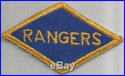 Off Uniform WW 2 US Army Ranger Patch Inv# JQ417
