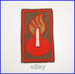 Ordnance Technical Intel Group Theater Made WWII Patch US Army P1190