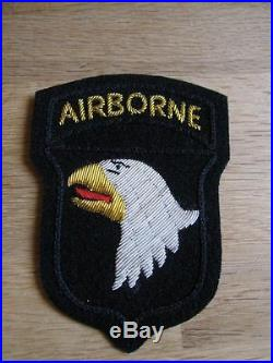 Original Airborne Patch 101st Paratrooper US Army D-Day Normandie NAM WK2 WWII