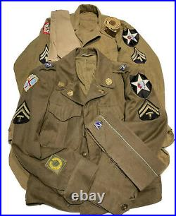 Original Dated WWII Uniform Group U. S. Army 2nd Infantry Division DUI Patches