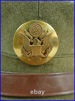 Original US ARMY WW2 VISOR CAP HAT with Patch Enlisted Men Gr. 56 Schirmmütze