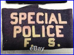 Original WW2 US ARMY SPECIAL POLICE F. S. PURPLE WHITE German War Crimes Armband