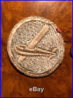 Original WW2 US Army 101st 82nd or 17th Airborne EM Hat Patch light blue, Rare