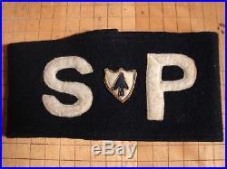 Original WW2 US Army 26th Infantry Reg. SPECIAL POLICE German War Crimes Armband