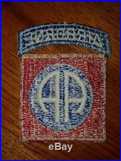 Original WW2 US Army 82nd Airborne cloth patch. WWII D-Day
