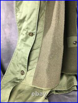 Original WW2 US Army Officers Double Breasted Overcoat Long Coat w Patches WWII