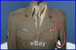 Original WW2 U. S. Army 3rd Infantry Division Patched Ike Uniform Jacket, 1944 d