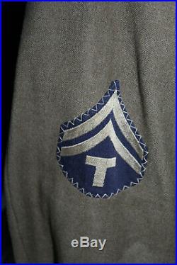 Original WW2 U. S. Army Air Forces 5th AAF Patched Ike Uniform Jacket, 1944 d