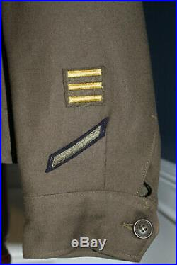 Original WW2 U. S. Army Air Forces Far East & 5th Air Force Patched Ike Jacket