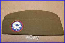 Original WW2 U. S. Army Airborne Patched Wool Overseas Hat, 1945 d. (Minty)