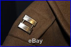 Original WW2 U. S. Army Officers 3/4 Wool Uniform Coat withService Patch & Insignia