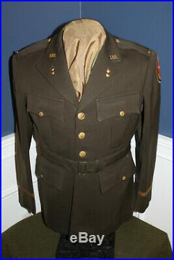 Original WW2 U. S. Army Ord. Officers ETO Patched Uniform Jacket, Named & 1943 d