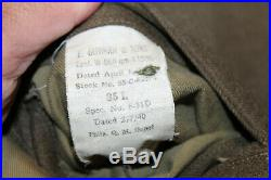 Original WW2 U. S. Army Port of Embarkation Patched Uniform Jacket & Overseas Hat