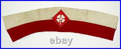 Original WW2 Vintage 4th US ARMY Patch on GENERAL STAFF BRASSARD Arm Band
