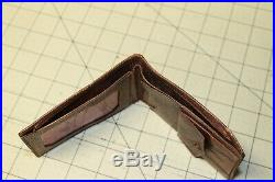 Original WWII US AAF Army Air Corp Wallet Very Unique Russet leather LOOK