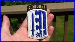Original WWII US Army 2nd Airborne Brigade Patch SSI Attached TAB