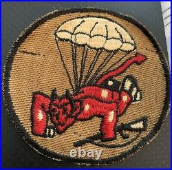 Original WWII US Army 508h Parachute Infantry Regiment Pocket Patch Camo Back