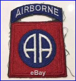 Original WWII US Army 82nd ABN Airborne Infantry Division Attached Tab Patch NG