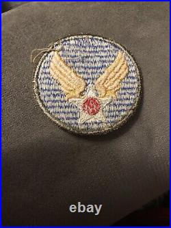 Original WWII US Army Air Forces (AAF) Patch OD Border Ribbed No Glow