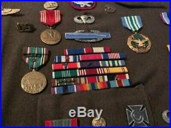 Original WWII US Army Airborne Grouping Lot of Medals Pins Patches Bringback IDs