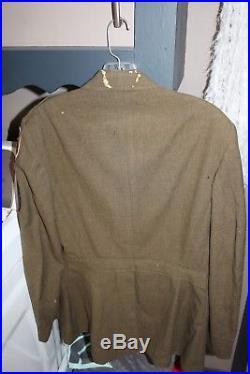 Original WWII US Army Tank Destroyer jacket 4 pocket tunic twill patch WB ribbon