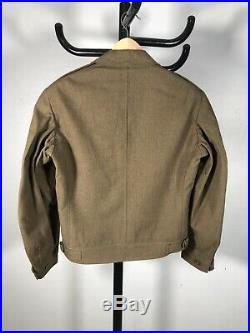 Original WWII US Military Ike Jacket 1st Army Patches Uniform Wool Size 36R