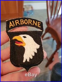 Original WWII U. S. Army 101st Airborne Patch Attached Tab