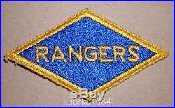Original Ww2 Era Us Army Rangers Patch