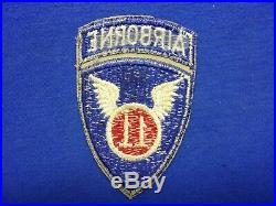 Original Wwii Us Army Airborne Shoulder Patches (lot Of 4)