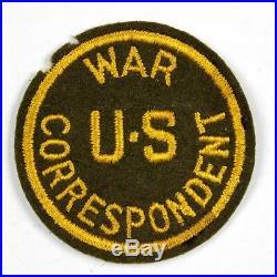 Original Wwii Us Army War Correspondent Wool Felt Shoulder Patch Ssi Insignia