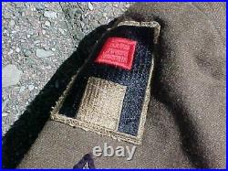 Original Wwii Us Ike Jacket 1944 1st Army Variant Patch / 3rd Division