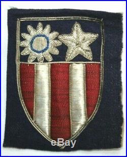 Original Wwii Ww2 U. S. Army Cbi China Burma India Theater Bullion Uncut Patch