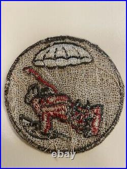 Original ww2 wwll us army 508th pir 82nd abn patch khaki RARE DDAY unit