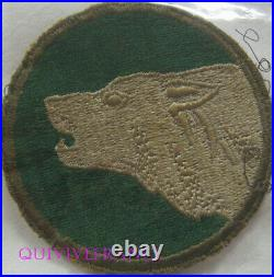 PUS038 WW2 US ARMY 104th Infantry Division Shoulder Greenback Patch