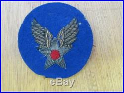 Patch Us Army Force Wwii Cannetille Brodée
