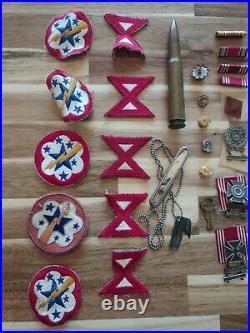 Patches PIN Lot Army Eagle US MEDAL Victory RIBBON WW2 Good Conduct Ephemera