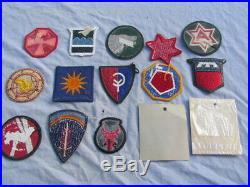 Patches Us Set Of 15 U. S. Army Wwii, Korea, Vietnam Badges Meyer Originals