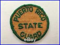 Pk114 Original WW2 US Army Puerto Rico State Guard Patch WB11